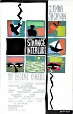 Strange Interlude — 1985 Broadway Theater Window Card Poster; Glenda Jackson