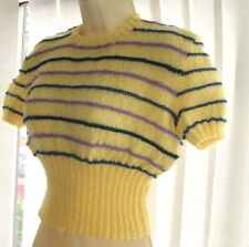 """💕Pure New Wool Jumper Hand knit To Vintage 1940's Pattern size 34"""" - 36"""" Bust"""