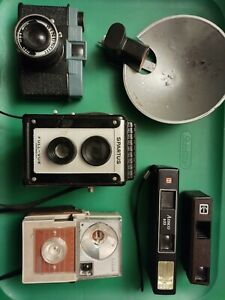 Vintage Camera Lot, Spartus Full-Vue, Kodak, Windsor & Ansco, Parts/Repair