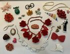 Antique+Vintage+Costume+Jewelry+Lot+All+Plastic+Celluloid+Bakelite+%3F+C+Clasps