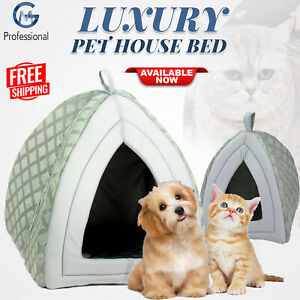 Soft Comfy Cozy Fleece Igloo Pet Bed Cave Box House For Dog Puppy Cat Kitten