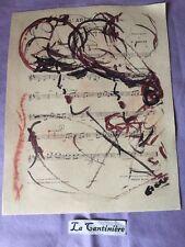 Affiche Femme Du Moulin Rouge Paris Sur Partition musique Signature Georgio