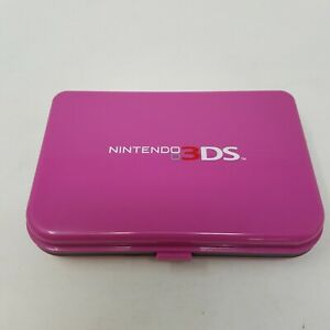 Nintendo 3DS Hard Plastic Carrying Case for Console, Games - Pinkish / Purple