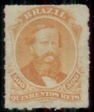 BRAZIL #67 500r orange, unused, VF, Scott for no gum $225.00