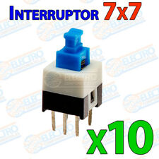 10x MINI INTERRUPTOR PCB 3 pines on/off enclavamiento 7x7 micro Switch