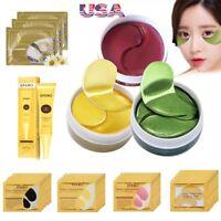 Crystal Gold Collagen Under Eye Patches Eye Cream Anti Wrinkles Dark Circle USA