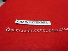 10 INCH STERLING SILVER PLATED 4MM NECKLACE EXTENDER WITH SPRING RING CLASP