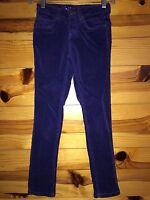 *JUSTICE* Girls Purple Wale Cord Corduroy Pants Size 8R 8 R