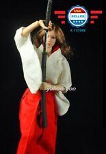 "1/6 scale Japanese Kimono Miko Dress for 12"" female figure Phicen"
