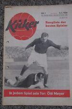 KICKER 1956 RANGLISTE der DEUTSCHEN Spieler/Pokal:Saarbrücken-FCK/Endspiel RWE