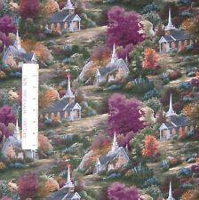 David Textiles Fabric - Thomas Kinkade Spring Chapel Scene - YARD