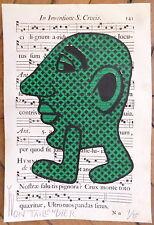 Yvon Taillandier sérigraphie signée figuration libre art musique antiphonaire