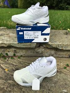 Babolat Tennis Shoe - SXF Tennis Womens UK 5 EUR 38 New in Box! Wht/Silver