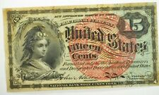 March 3, 1863 15 Cents Fractional Fourth Issue Fr. 1269 Violet Fibers XF-AU