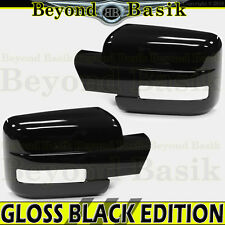 2009-2014 FORD F150 F-150 GLOSS BLACK Mirror Covers w/turn signal hole