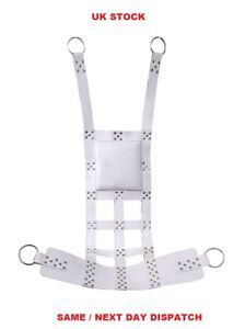 Real Black or White Leather Adult Sling with Stirrups Mountable Comfortable Seat