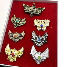 7Pcs LOL League of Legends Badges Pins Collection New In Box Gift Cosplay
