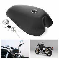 9L 2.4Gallon Motorcycle Fuel Gas Tank Cap Key Switch For Honda CG125 Matte Balck