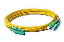 LWL E2000-SC Patchkabel, APC, OS2, 9/125um, 3.0mm, 2m Lichtwellenleiter