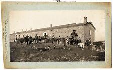 Grosseto Maremma Tuscany  Farmhouse Animals People Large silver photo 1910 XL168