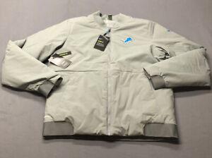 Nike NFL On Field Apparel Detroit Lions Winter Jacket (M, Gray)(NWT) MSRP $200