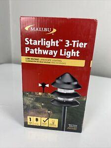 (1) Malibu Metal 3 Tier Pathway Pagoda Light 7W Landscape