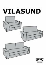 Ikea Vilasund REPLACEMENT COVER ONLY 2 seater Sofa Bed 302.430.59 Dansbo Dk Grey