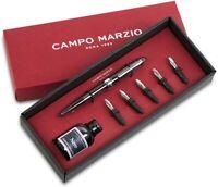 Set regalo Calligraphy grigio Penna Stilografica Campo Marzio Roma 1933 UOMO ...