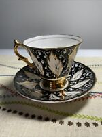 Vintage gold plated Taylor Kent Bone China Teacup & Saucer England. Rare patt