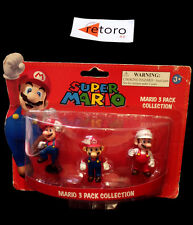 MARIO 3 PACK COLLECTION SUPER MARIO Nintendo NEW Figure Fire Mario