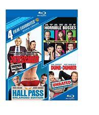 4 FILMS - WEDDING CRASHERS / HALL PASS / DUMB & DUMBER / HORRIBLE BOSSES BLU RAY