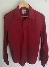 Mens Express Medium Size Dress Shirt Color Red great Shape.