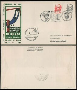 SOCCER-COVER-URUGUAY 1981- SPECIAL COVER WITH METER CANCEL-