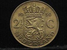 Países Bajos 2 1/2 florines 1959 reina Juliana plata% 720 nr222
