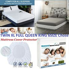 WATERPROOF Mattress Protector Fitted Sheet Guard Cover Washable Soft ALL Size