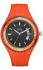 GUESS W95143G5 FIN Reloj de hombre correa de silicona naranja