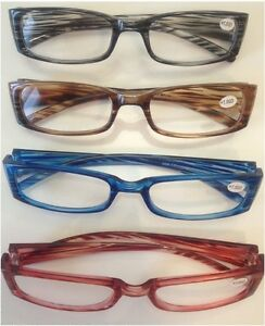 Lesebrillen Lesehilfe Brille in Braun Blau Rot & Grau in verschiedene DPT NEU