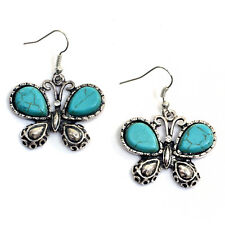Butterfly Chandelier Earrings with Turquoise Stone
