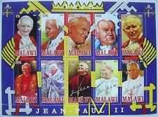 ** Pope John Paul II  - miniature sheet 10 val. Malawi  2012 mint MNH  #181