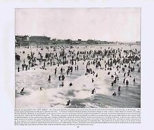 Beach at Atlantic City New Jersey -1894 Vintage Lithograph