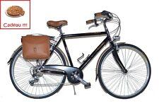 FR Beach Cruiser Retrò Vélo de Ville Vèlo américain homme Vintage acier noir