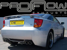 TOYOTA CELICA STAINLESS STEEL CUSTOM BUILT EXHAUST SYSTEM TWIN TAIL PIPES