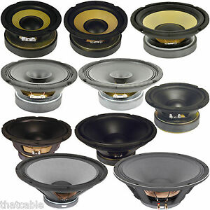 Quality Speaker Woofers & Hi-Fi Cones -Voice/Audio/Music Coils- Replacement Bass