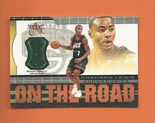 2001-02 ULTRA ON THE ROAD RASHARD LEWIS GAME-WORN JERSEY #3 SEATTLE SUPERSONICS