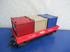 Güterwagen mit 3 x Container Fracht RC Eisenbahn v Set 5258 Playmobil 1383