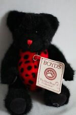 "Boyds Bears ""Wanna B. Ladybug"" Black Teddy Bear Plush Toy Doll New Nwt"