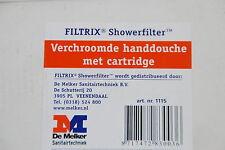 DE MELKER FILTRIX SHOWERFILTER CHROM HANDBRAUSE MIT KARTUSCHE ART. 1115 NEU
