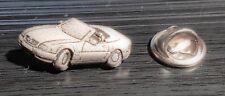 Mercedes Benz Pin SL W129 Cabrio silbern relief - Maße 25x12mm