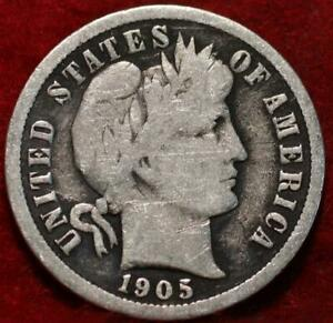 1905-O New Orleans Mint Silver Barber Dime