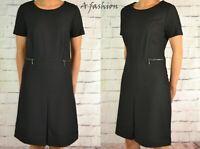 NEXT NEW UK 8 TALL LADIES BLACK A LINE DRESS